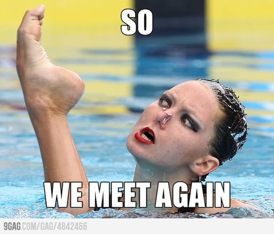 I laughed so hard.  Synchronized Swimming is such an entertaining sport to watch!: