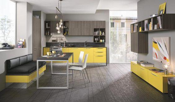 Quadra Kitchen   2015 Edition   Yellow   Colombini Casa   Modern Kitchens    Pinterest   Kitchens, Kitchen Modern And Modern