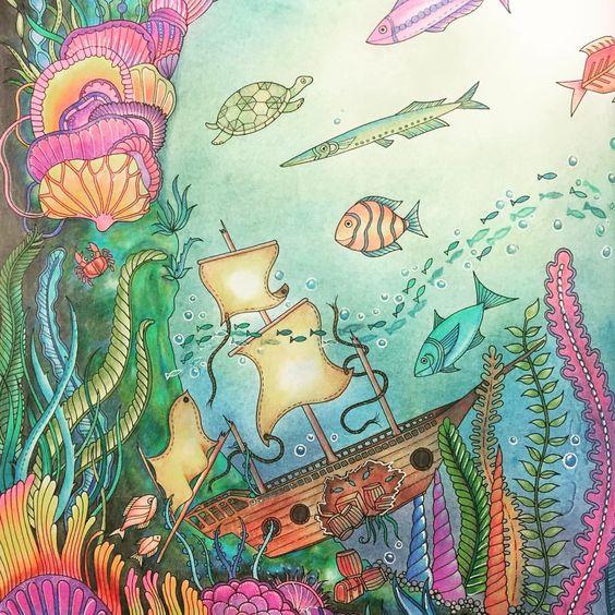#lostocean #johannabasford #adultcoloring