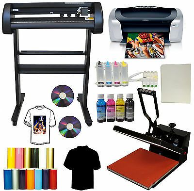 Ad Ebay Url 15x15 Heat Press 28 24 Laser Metal Vinyl Cutter Plotter Ciss Printer Tshirt Pk In 2020 Sticker Printer Vinyl Cutter Diy Prints