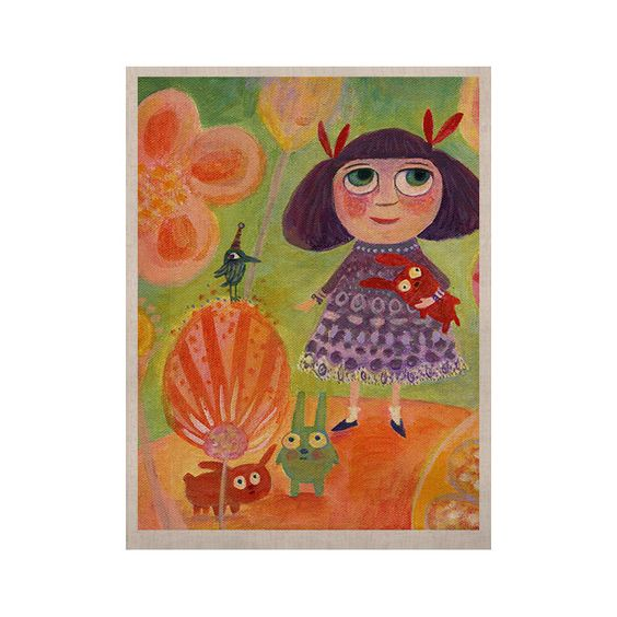 "Marianna Tankelevich ""Flowerland"" KESS Naturals Canvas (Frame not Included)"