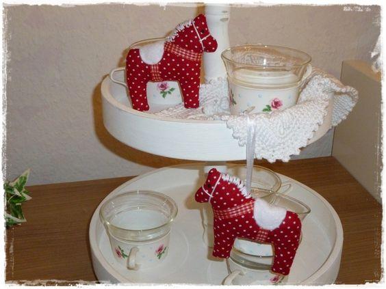 2 Dalapferde♥Baumschmuck♥Rot♥Weihnachten von Little Charmingbelle auf DaWanda.com