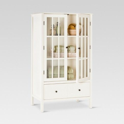 Thresholdtm Windham Tall Cabinet With Drawer Gray
