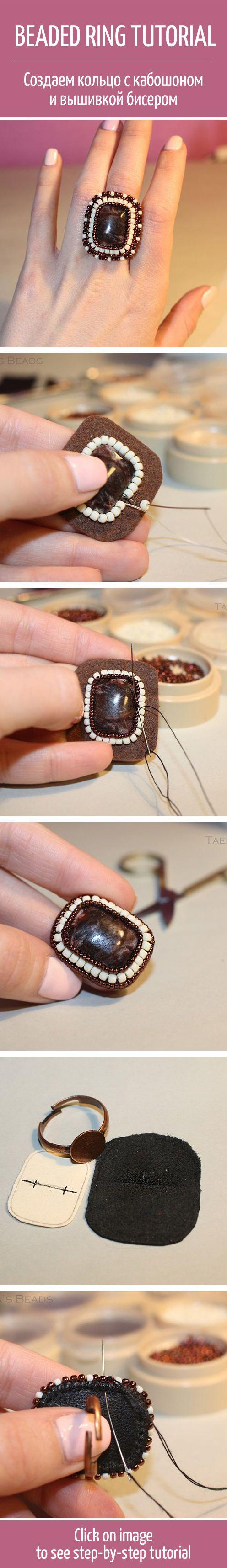 Beaded ring tutorial handmade art design beaded ring tutorial handmade art design diy home jewelry pinterest beads beaded embroidery and baditri Choice Image