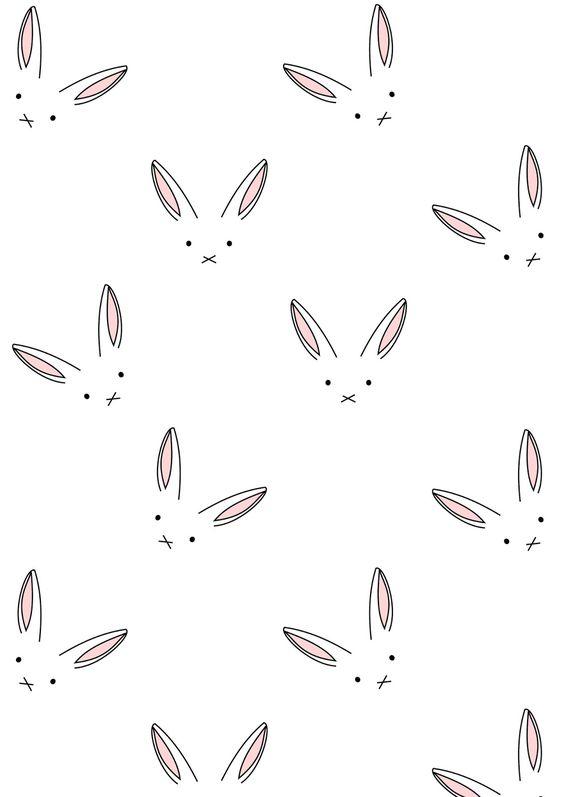MeinLilaPark – DIY printables and downloads: Free digital bunny scrapbooking paper minimalist - ausdruckbares Geschenkpapier - freebie