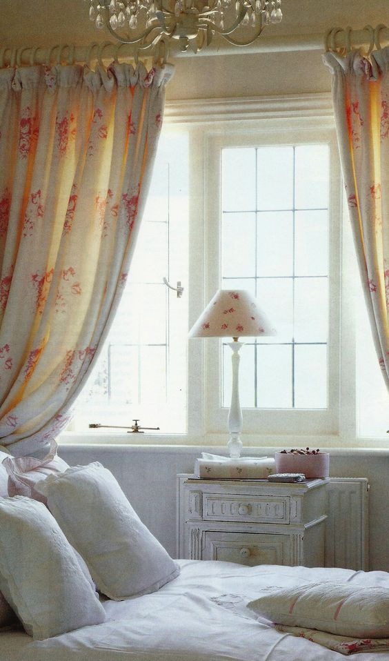 Walls painted in White Tie by Dulux, curtains in Hatley by Cabbages & Roses: