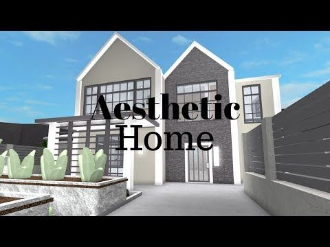 Roblox Welcome To Bloxburg Aesthetic Home Youtube Modern Family House Cool House Designs Modern Tiny House