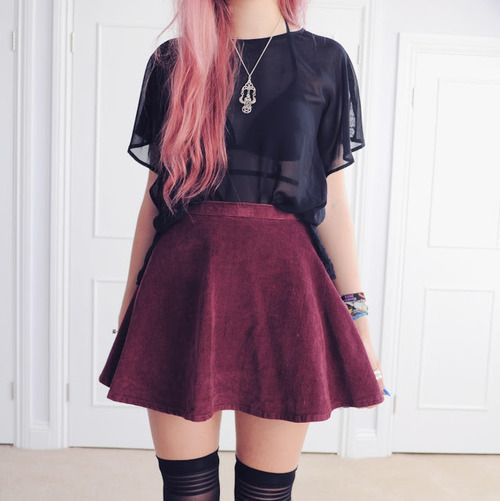 What Type Of Tumblr Girl Are You? | Pastel Womenu0026#39;s fashion and Velvet skirt