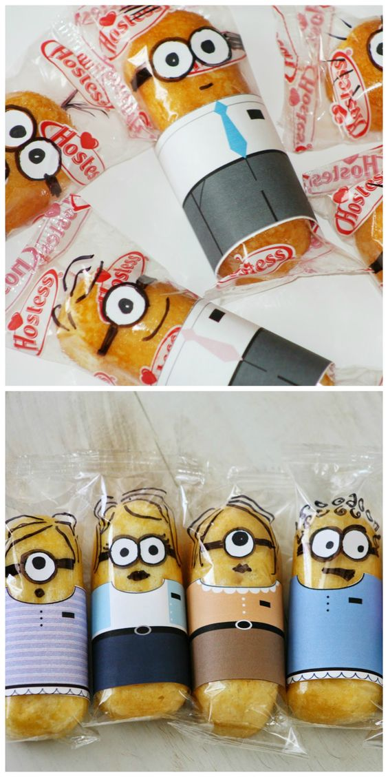 I have not seen this movie, I know not what a minion is, but I thought I'd share for those mommas and teachers of little ones! Twinkie minions!