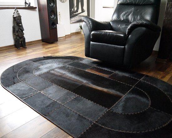 Oval Cowhide Patchwork Rug 128 X 230 Cm Patchwork Cowhide Rug