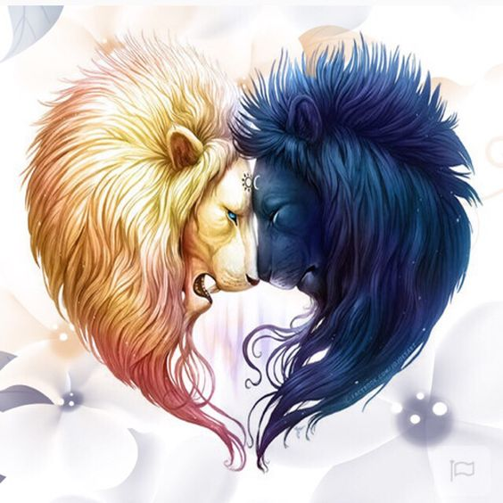 Yin Yang with Lions