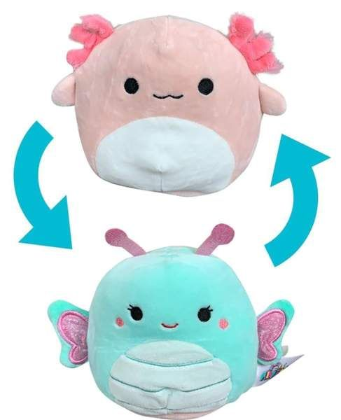 Squishmallow 12 Inch Flip A Mallow Plush Butterfly Axolotl Pillow Pals Playtime Toys Plush