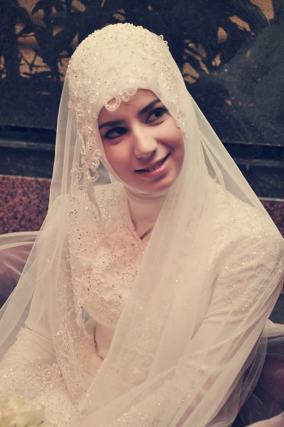 Turkish brides hijab bride muslim wedding dress for Wedding dresses for muslim brides
