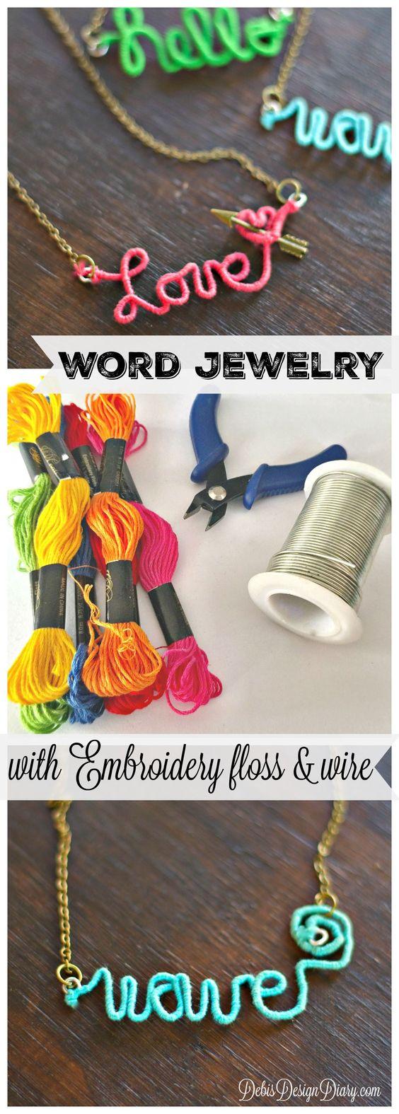 Personalized Wire Word Jewelry Anthropologie knock off Jewelry