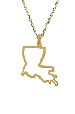 Gold Louisiana pendant