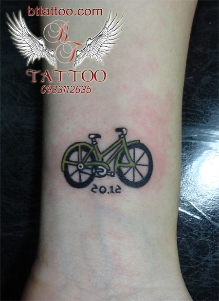 Bicycle tattoo by www.bttattoo.com
