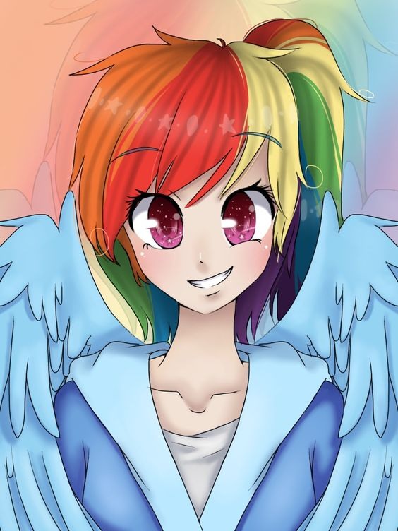 #971304 - artist:iponylover, cute, humanized, rainbow dash, safe, solo - Derpibooru - My Little Pony: Friendship is Magic Imageboard: