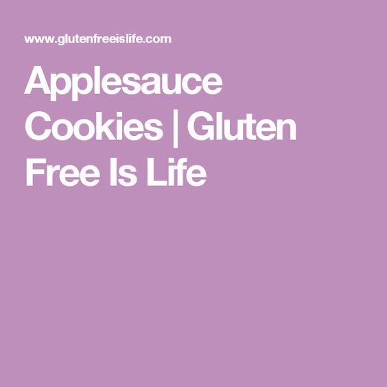 Applesauce Cookies | Gluten Free Is Life