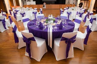 ... violet et blanc - Fee de lEffet  mariage  Pinterest  Mariage and