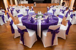 ... violet et blanc - Fee de lEffet  mariage  Pinterest  Mariage and