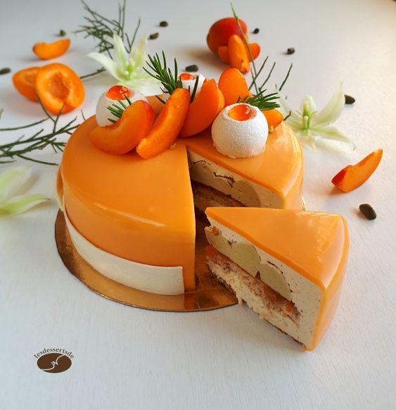 Apricot, Pistachio, Vanilla Entremet