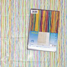 """1 Duschvorhang """"Spaghetti"""", transparent mit bunten Spaghetti-Streifen Jemand wissen wo kanne ich das in München kaufen? Oder etwas transparent aber Bunt als dieser? Aber nicht mit ebay . . .?"""