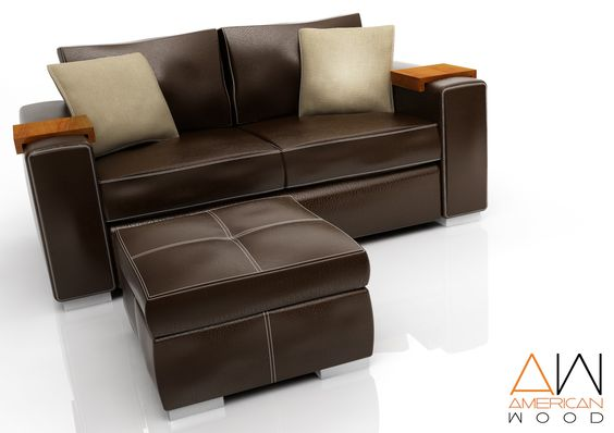 Sofa Concept con Puf Chocolate American Wood