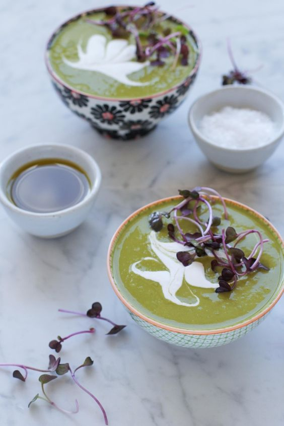 mint soup with lemon cream recipe dishmaps snap pea soup with mint and ...