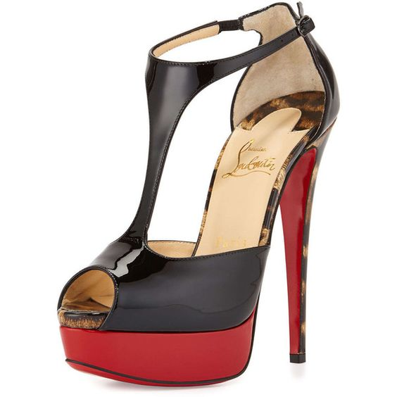 christian louboutin signifiamma mesh red sole pump