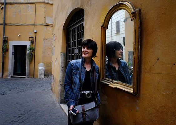 Valerie Squared... Rome Italy  Valerie Jardin is a mighty fine model it turns out.  She had mentioned this mirror to me a few minutes before as we were wandering the streets of Roma. So when we actually passed by it I couldn't just... pass by it. Would YOU?? I mean seriously... who could pass up THIS Kodak moment!  #fujifilmx_us Fujifilm X Series US #rome #italy #postsfromrome
