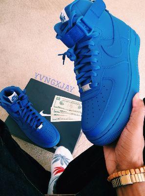 all blue nike air force 1