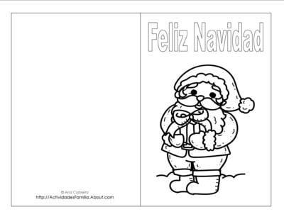 Descargra gratis tarjetas de navidad para colorear - Postales de navidad bonitas ...