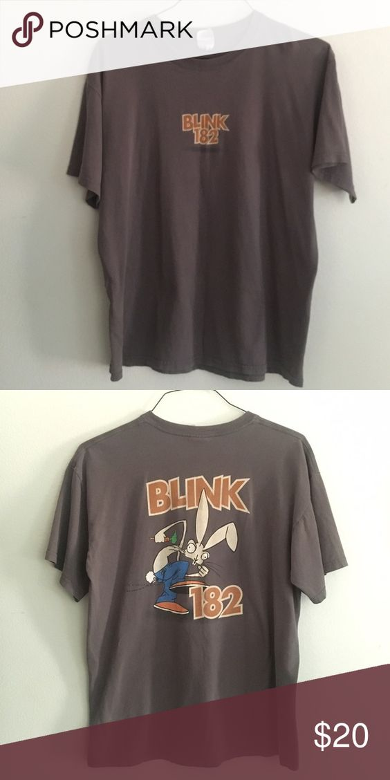 Blink 182 Stomping Bunny Band t shirt, early millennium (2004 ish I believe) size large Gildan Tops Tees - Short Sleeve