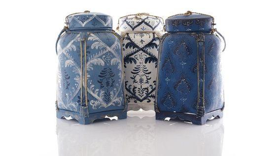 Thai Rice Pots ::  indigo
