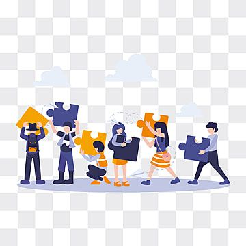 People Flat Business Metaphor With Puzzle Concept Of Strategy And Solution Business Flat People Png Transparent Clipart Image And Psd File For Free Download Character Design Cartoon Illustration Illustration