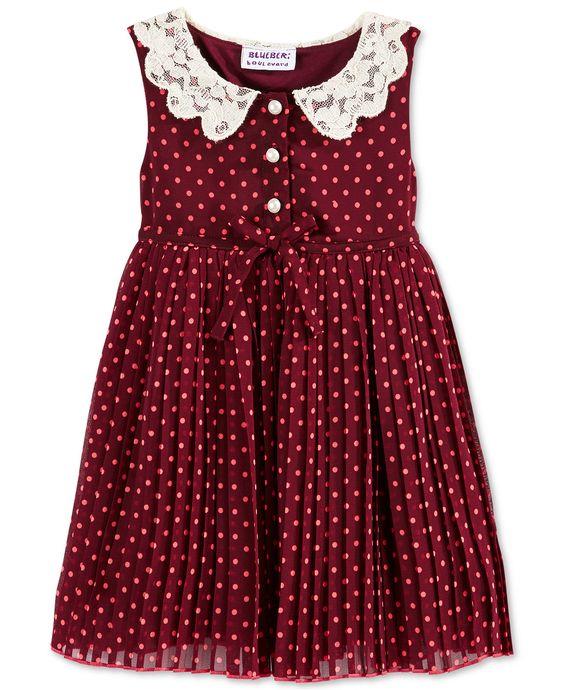 Blueberi Boulevard Baby Girl S Dot Dress Baby Girl 0 24
