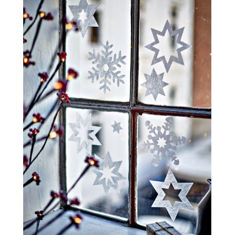 Fenster-Sterne, 21-tlg., wiederverwendbar Katalogbild