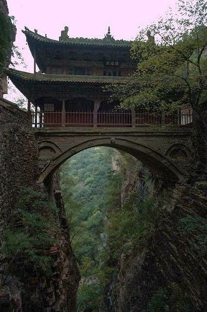 Hanging Palace, Cangyan Shan, China: