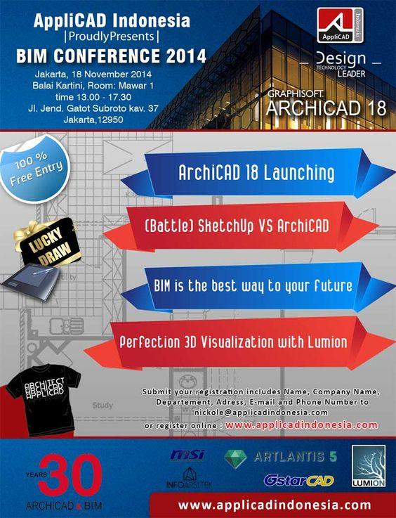 Segera daftarkan diri anda di www.applicadindonesia.com !! Free!! BIM Conference 2014 | AppliCAD Indonesia.