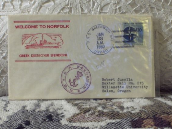 http://ajunkeeshoppe.blogspot.com/  First Day Issue/Cover-Stamp-Greek Ship Sfendoni 1960 4c 8ozP725B4HP1171