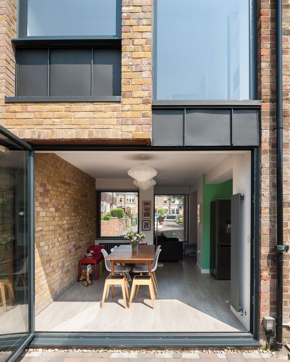 Re-imagining a 1960's terraced house with 2 storey side extension by Selencky///Parsons. Photo by Andy Matthews