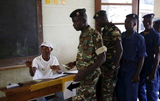 Two killed as blasts, gunfire mar Burundi presidential vote
