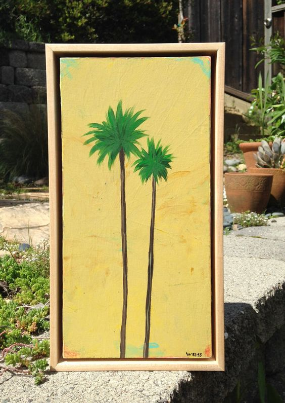 Original acrylic painting fine art wall decor palm by Tuesdaymoon