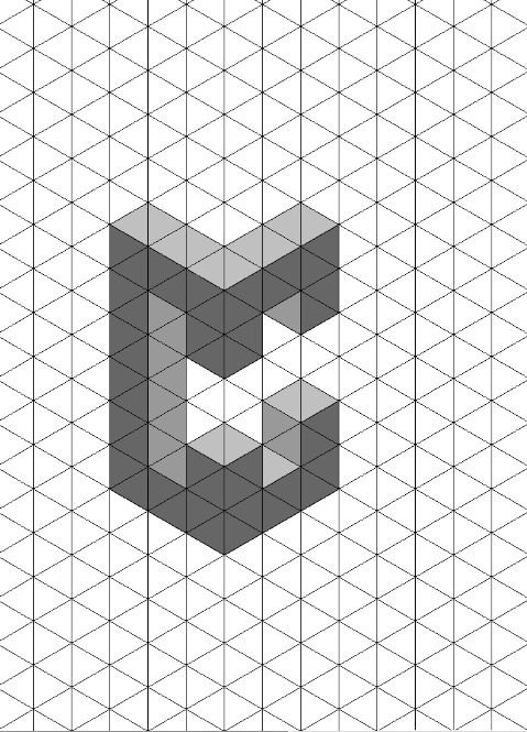 how to draw the letter c in 3d