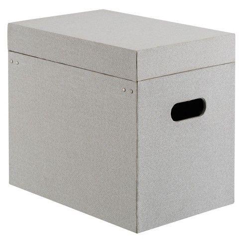 Fabric File Box Gray Threshold File Box File Box