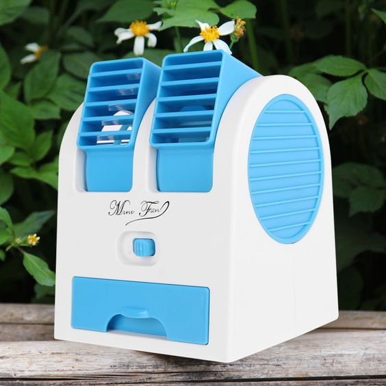 Portable Air Conditioner Air Conditioning Fan Mini USB Fan Rechargable Desk Fan #ONE