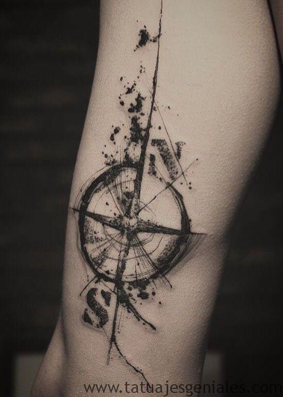 Tatuaje De Brujula Personalizado En Arteytatuaje Wp 11262144974