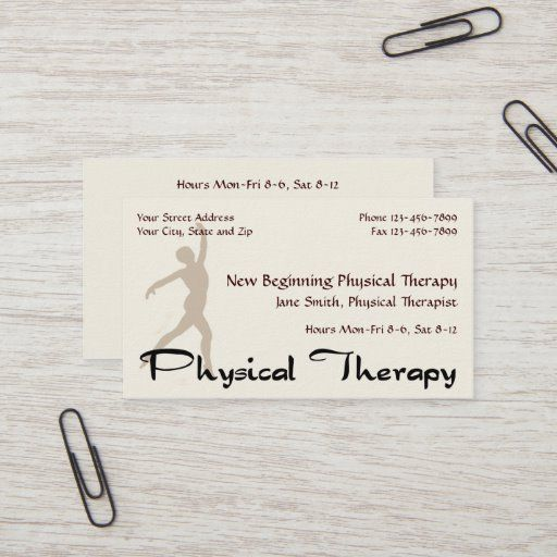 Physical Therapist Therapy Business Cards Zazzle Com In 2020 Physical Therapist Therapist Therapy