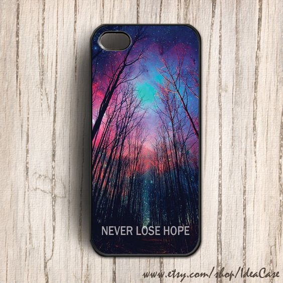 iPhone 5 Case - Never Lose Hope Space iphone case , Galaxy iphone 4s case , iphone 4 case , iphone cover, plastic case. $16.50, via Etsy.