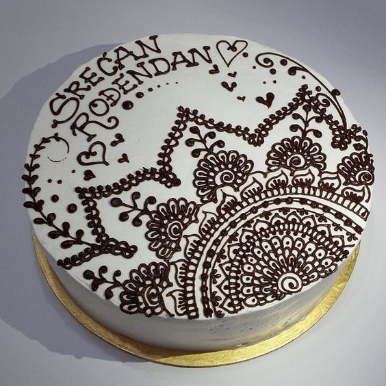 Henna Mehndi Cake : Natalys cookies s photo on instagram henna cake sweets